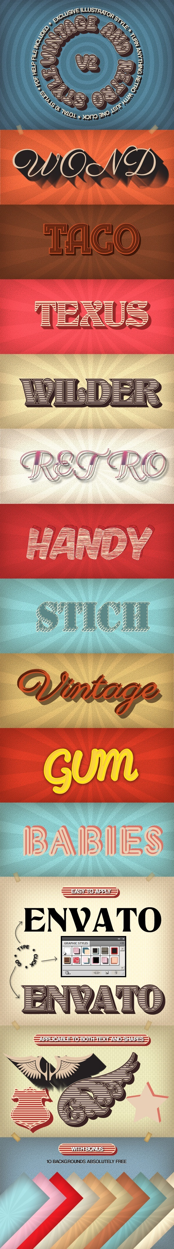 Vintage and Retro Styles V2 - Styles Illustrator