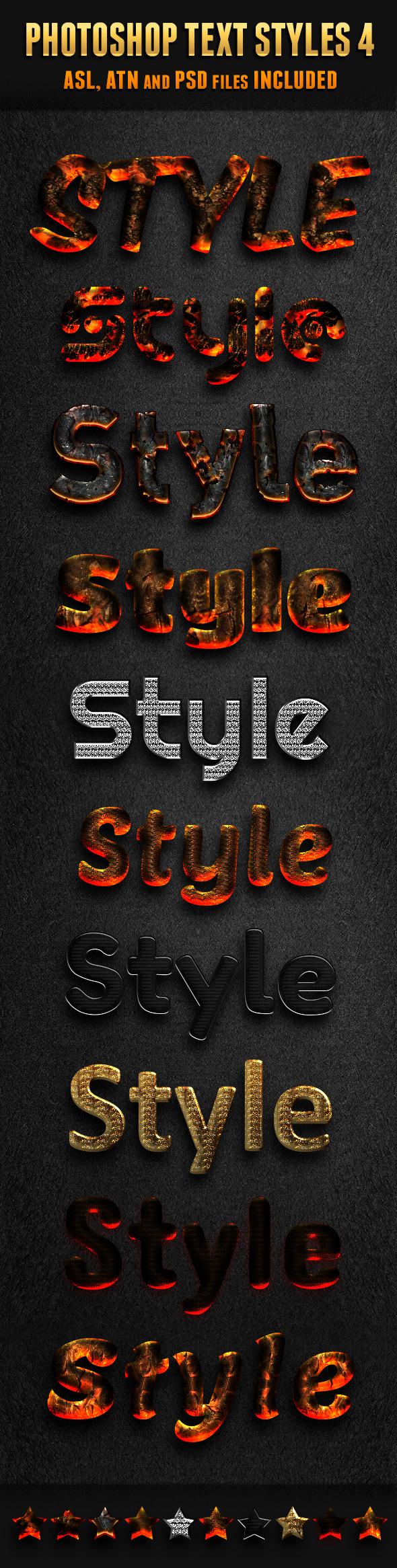 Photoshop Text Styles 4 - Text Effects Styles