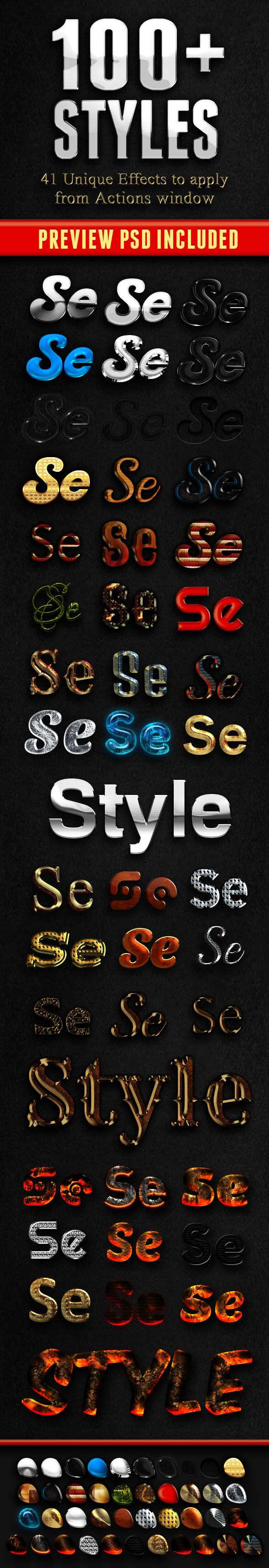41 Different Layer Effects - Text Effects Styles