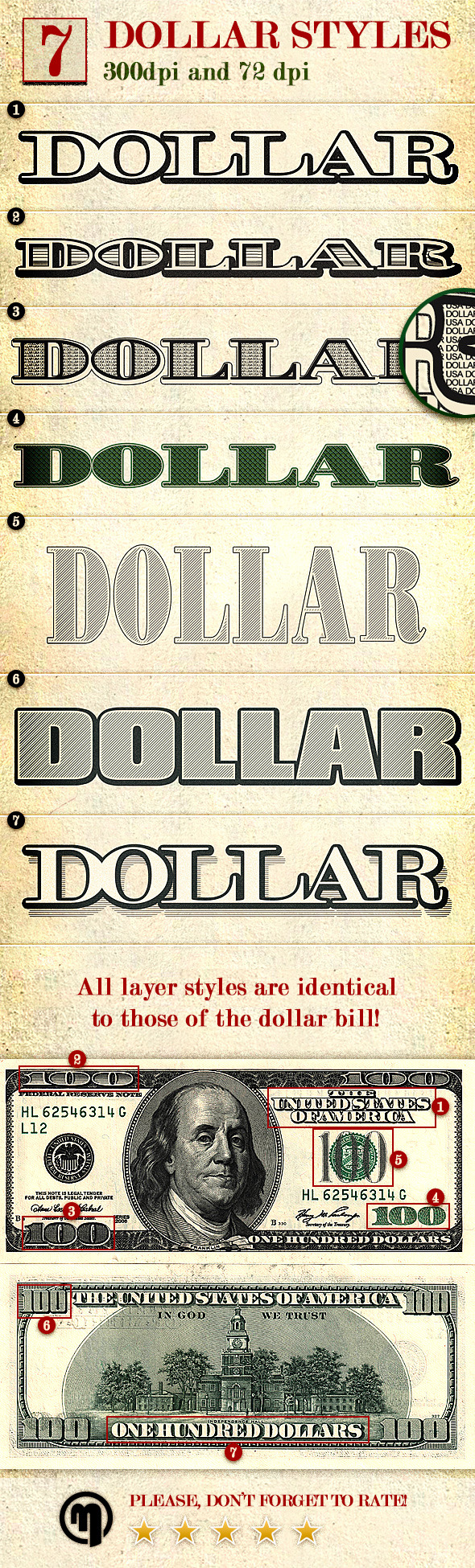 Dollar - Photoshop Layer Styles - Styles Photoshop