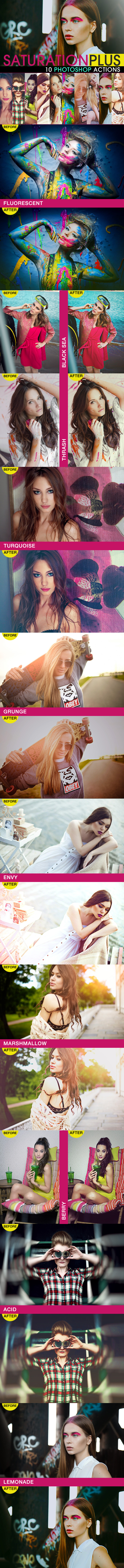 SaturationPLUS Photoshop Actions - Photo Effects Actions