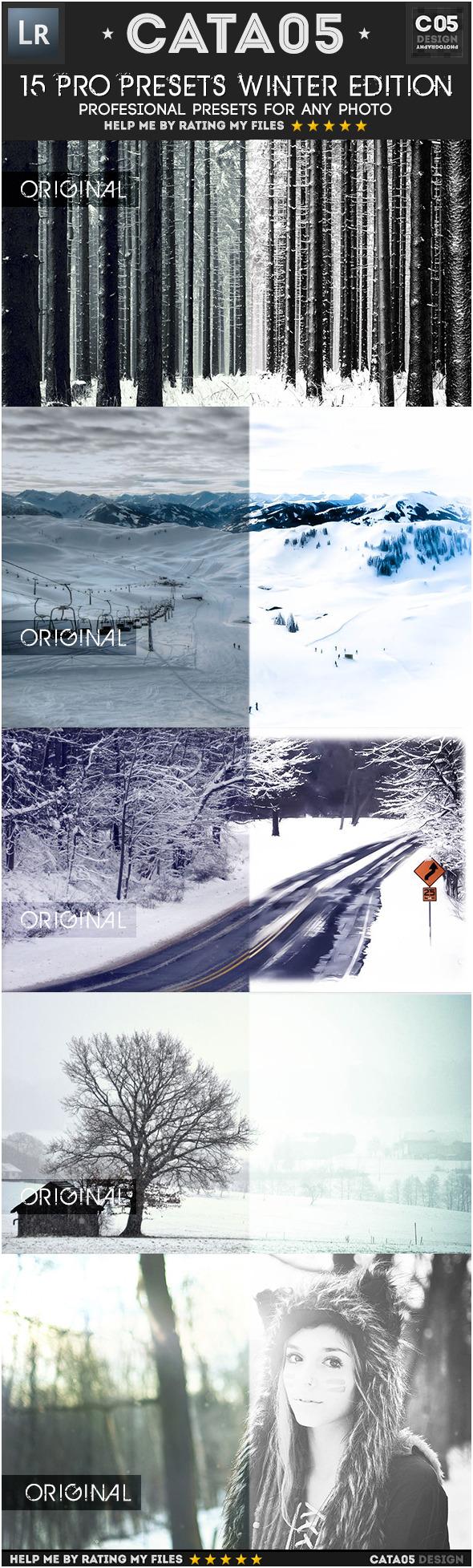 15 Pro Presets Winter Edition - Landscape Lightroom Presets