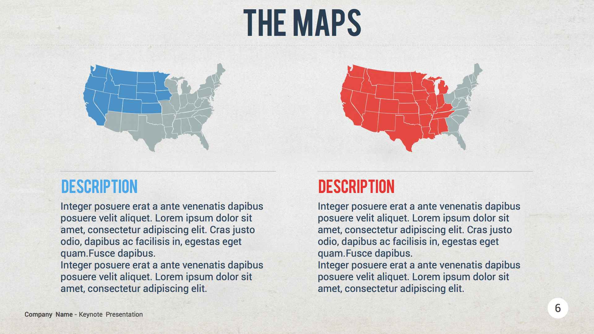 USA Map Keynote Template By Slidehack GraphicRiver - Us map keynote