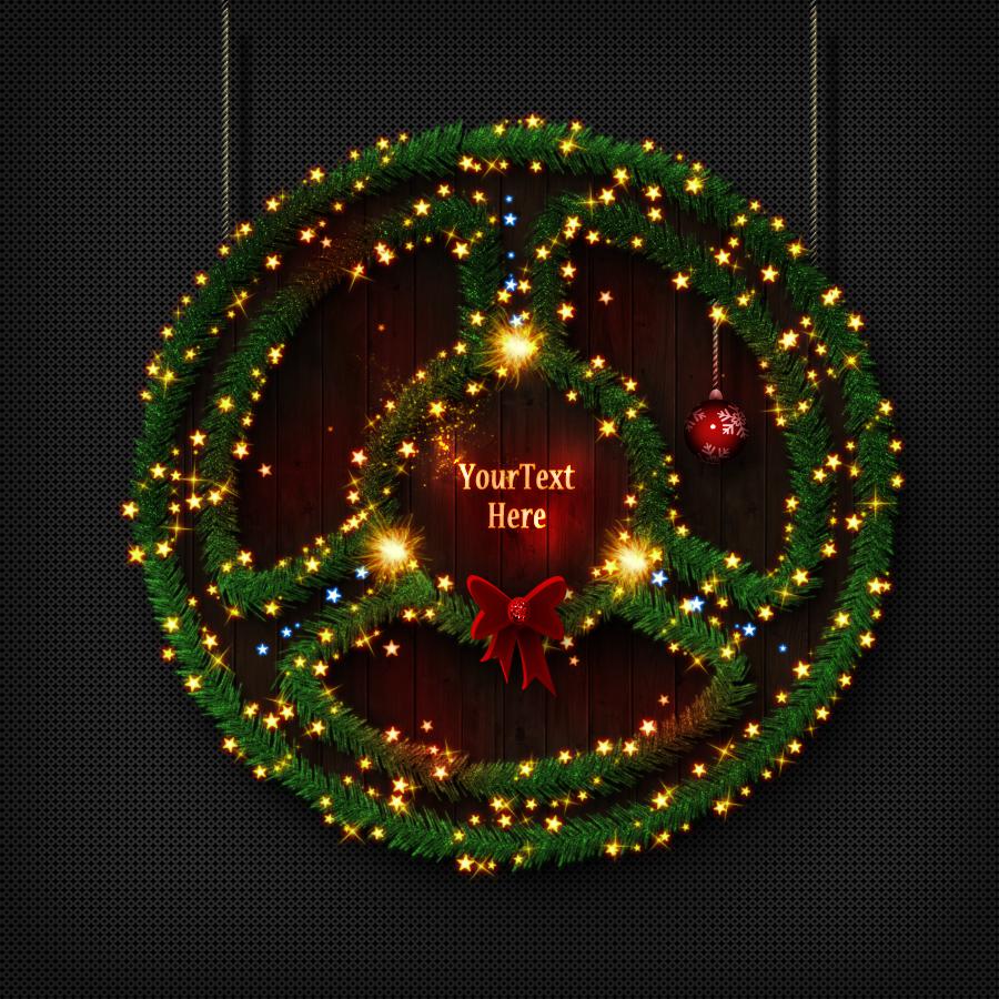 christmas tree photoshop creator by psddude