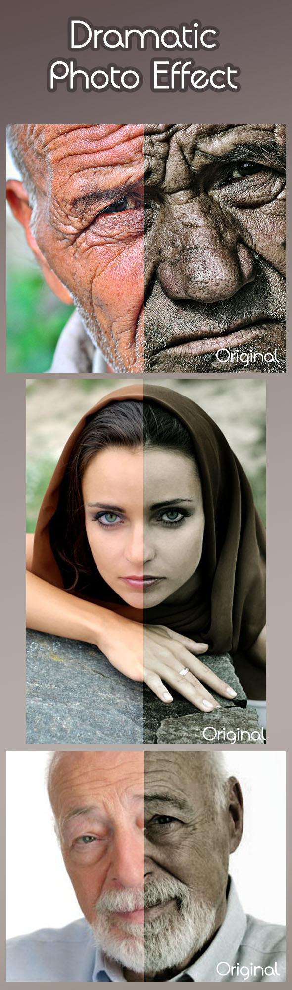 Dramatic Photo Effect - Actions Photoshop