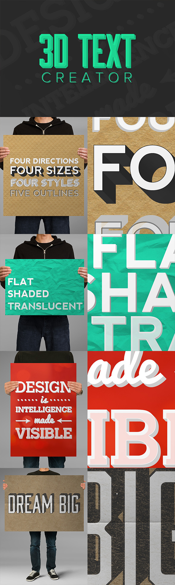 3D Text Creator - Text Effects Actions