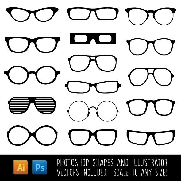 Spectacle Custom Shapes - Shapes Photoshop