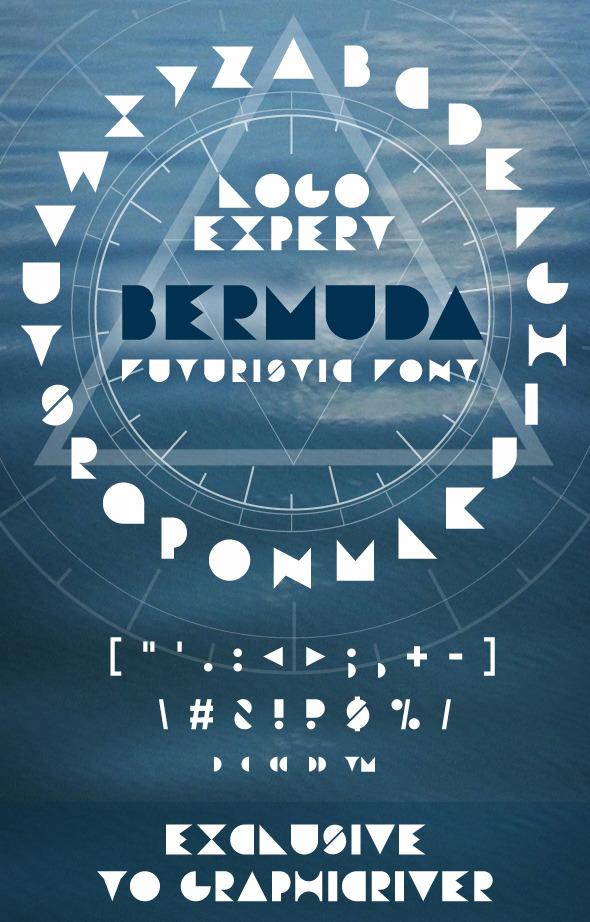 Bermuda Font  - Futuristic Decorative