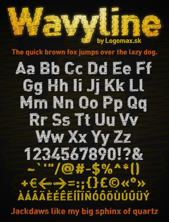 Wavyline Font - Miscellaneous Sans-Serif