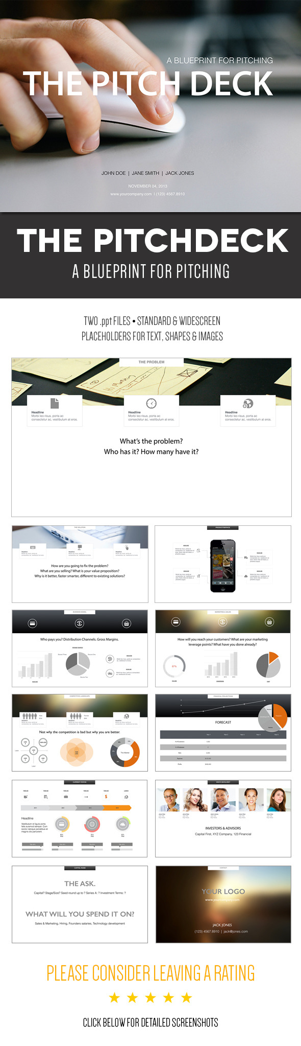 The Pitch Deck - A Powerpoint Template - Pitch Deck PowerPoint Templates