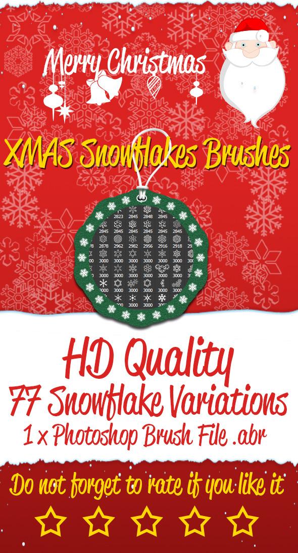 XMAS Snowflakes Brushes - Brushes Photoshop