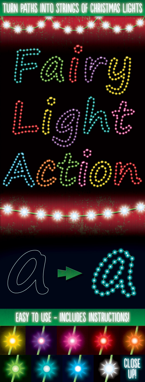 Christmas Light Generator Actions - Actions Photoshop
