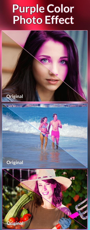 Purple Color Photo Effect - Actions Photoshop