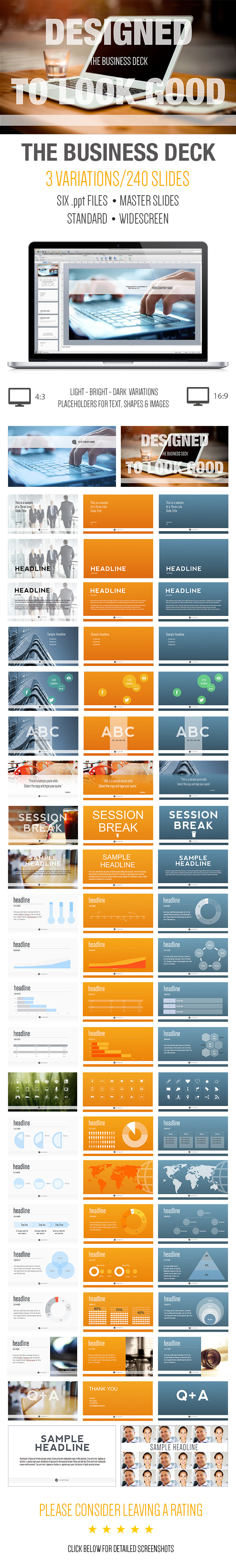 The Business Deck - A Powerpoint Template - PowerPoint Templates Presentation Templates