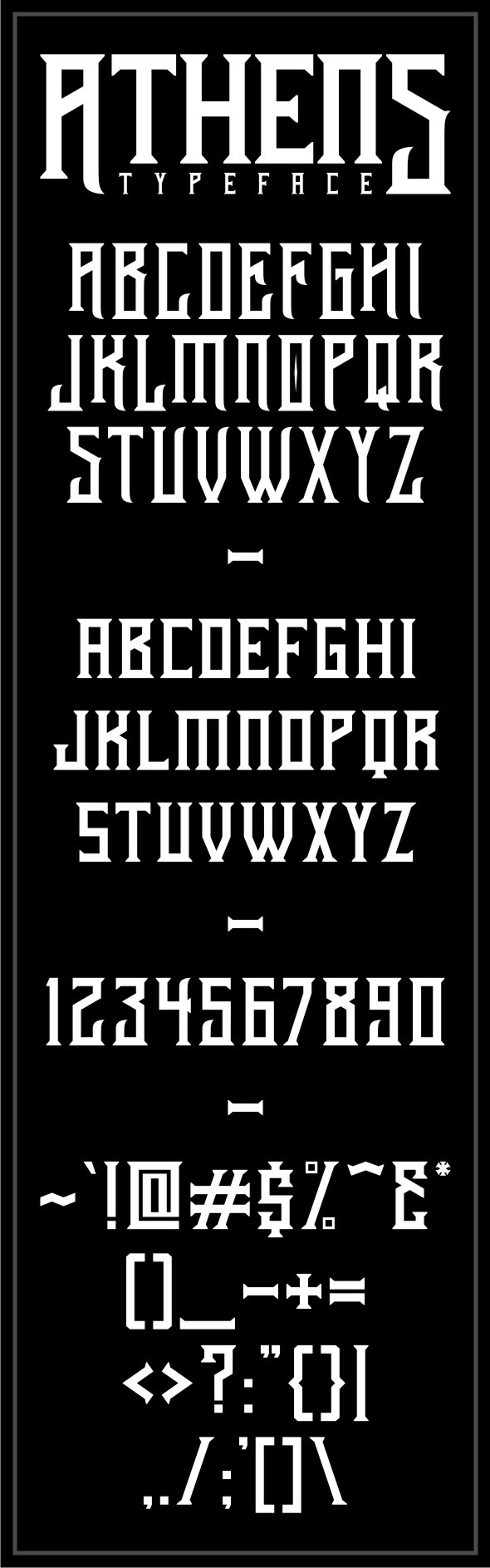 Athens Typeface - Gothic Decorative
