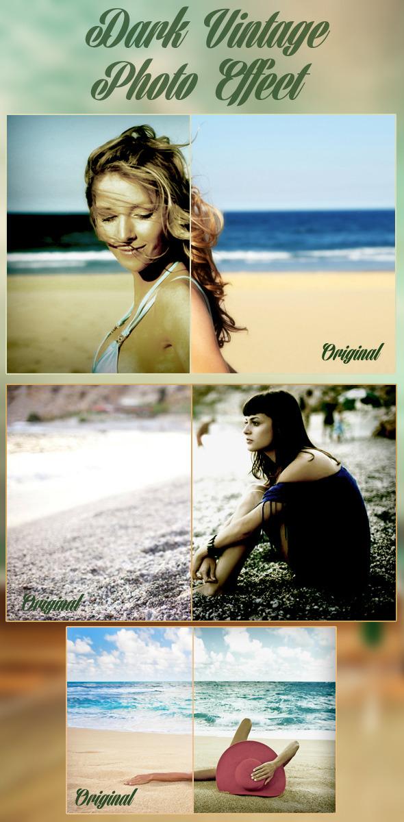 Dark Vintage Photo Effect - Actions Photoshop