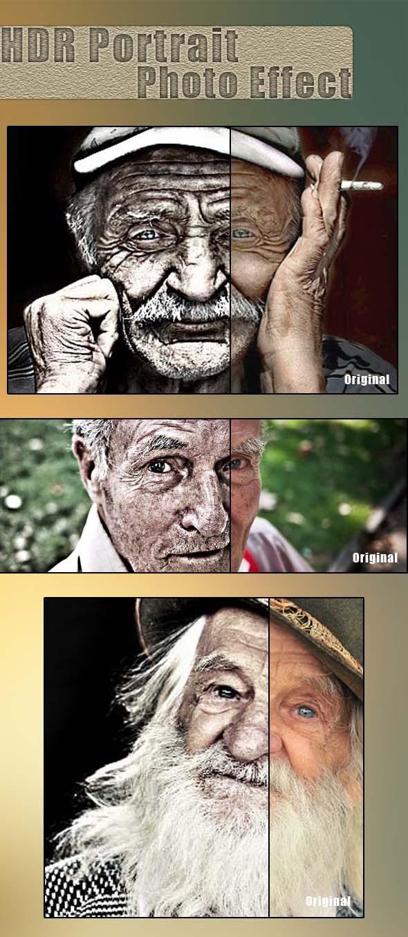 HDR Portrait Photo Effect - Actions Photoshop