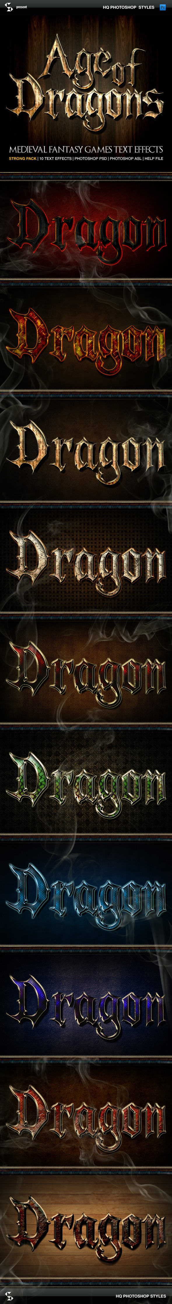 Fantasy Styles - Age of Dragons - Text Effects Styles