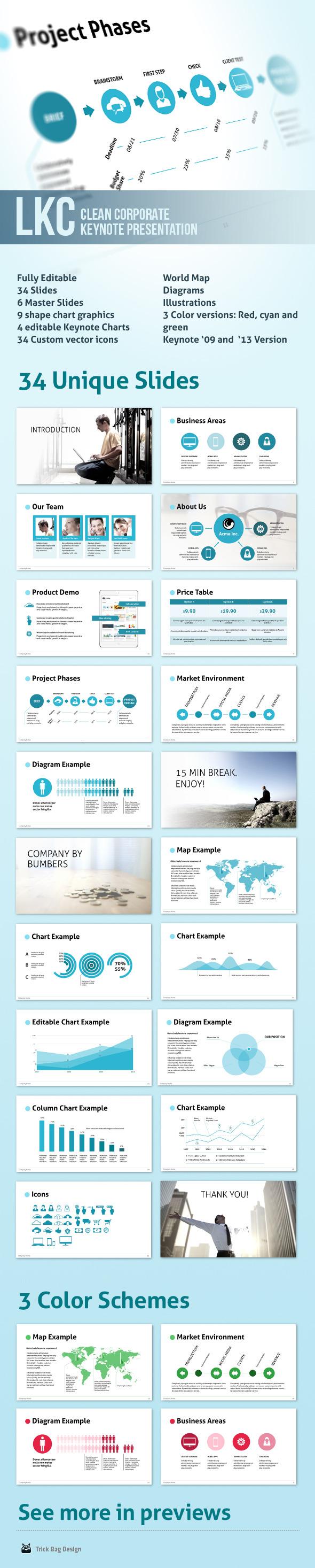 LKC - Clean Corporate Keynote Presentation - Business Keynote Templates