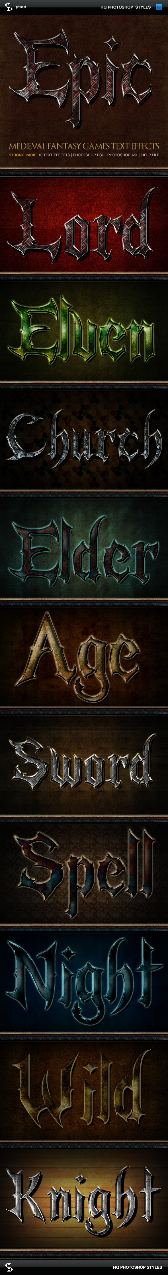 Fantasy Styles - Epic Medieval - Text Effects Styles
