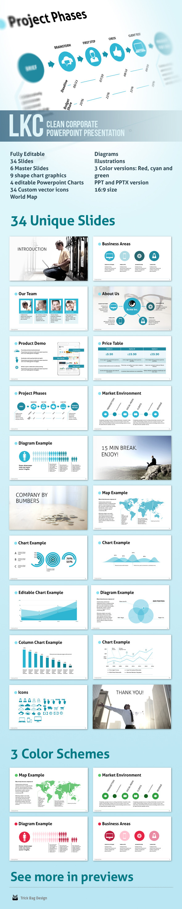 LKC - Clean Corporate Powerpoint Presentation - Business PowerPoint Templates