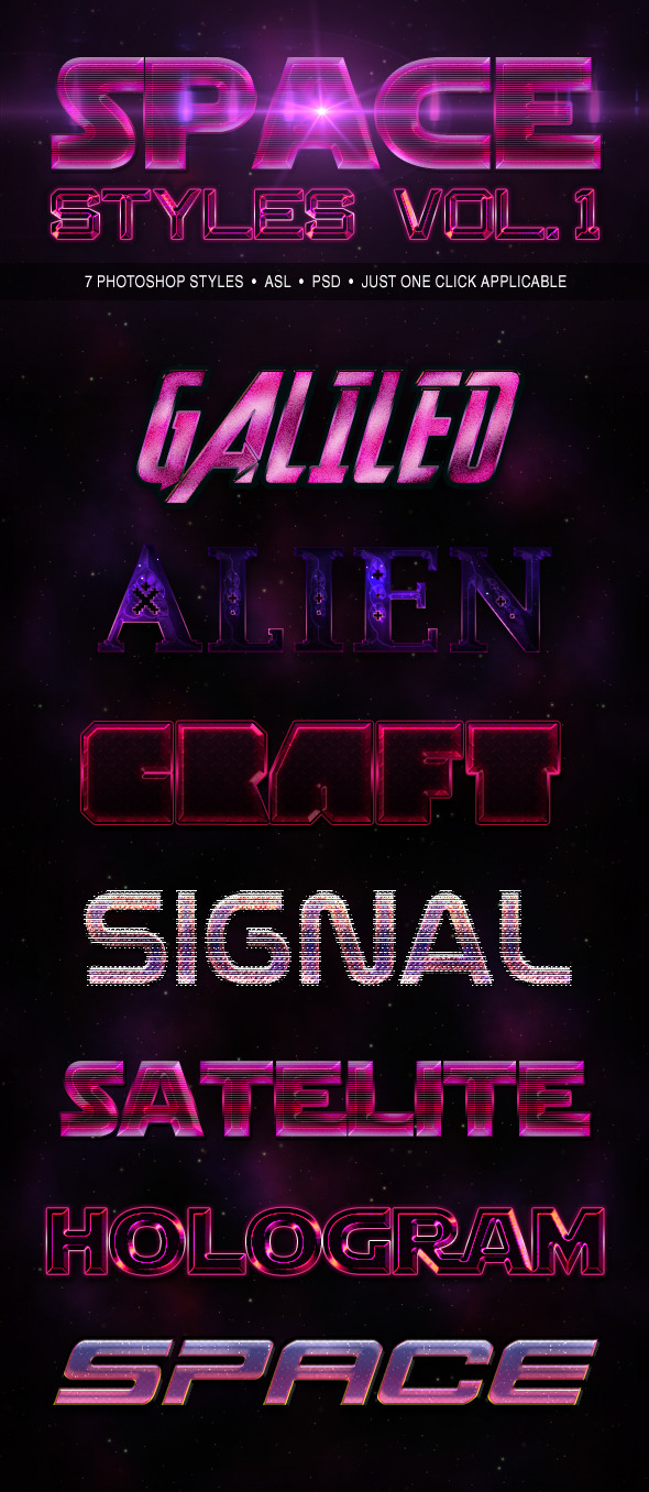 Space Styles Vol. 1 - Text Effects Actions