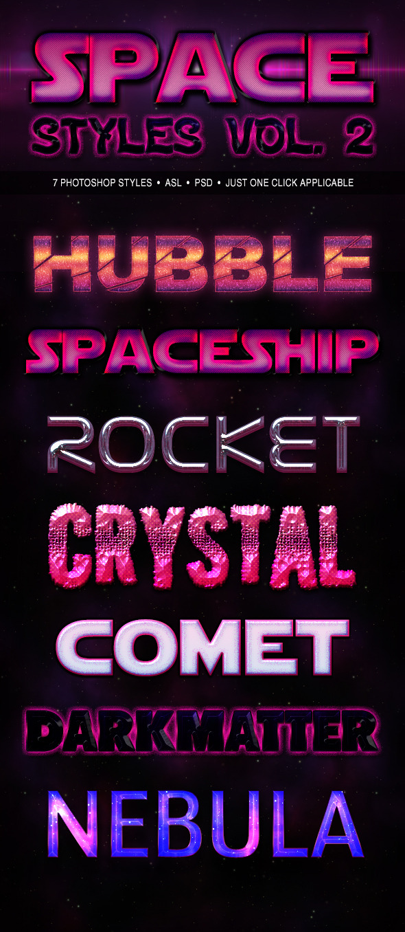Space Styles Vol. 2 - Text Effects Actions