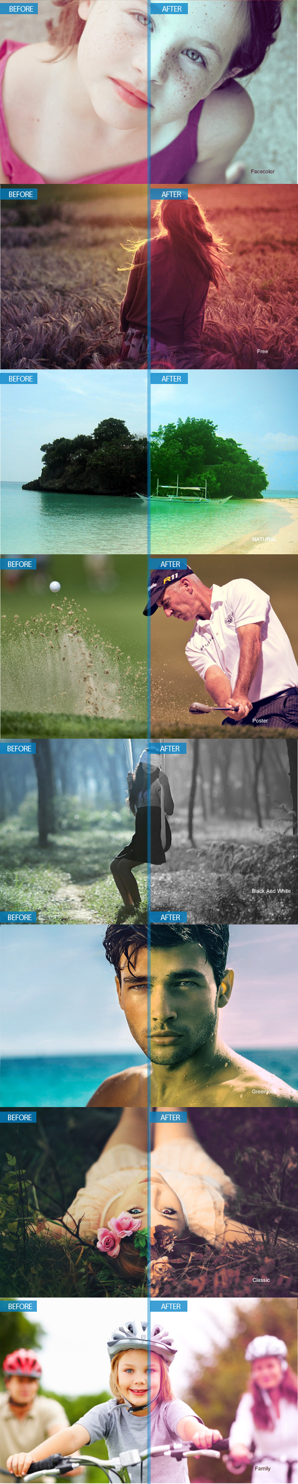 Photoshop Actions - Photo Effects Actions