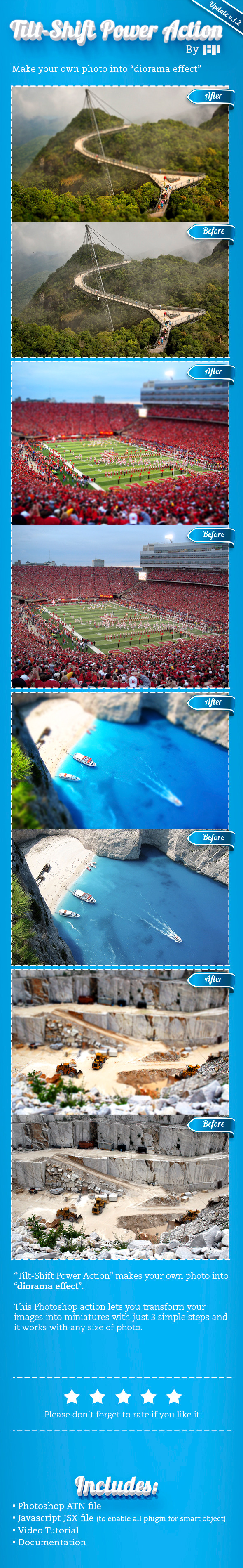 Tilt-Shift Power Action - Photo Effects Actions