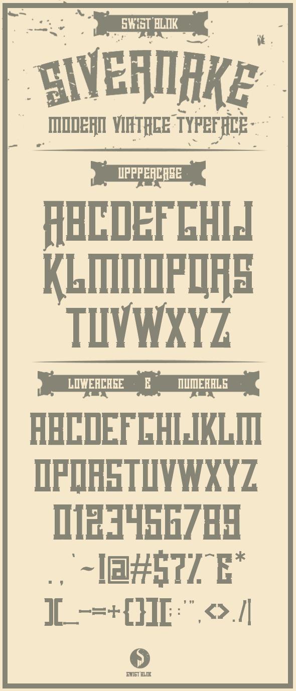 Sivernake - Fonts