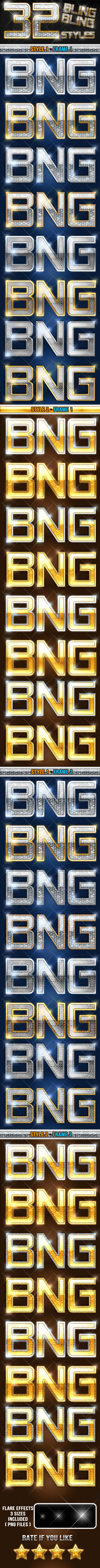 32 Bling Bling And Luxury Styles - Text Effects Styles