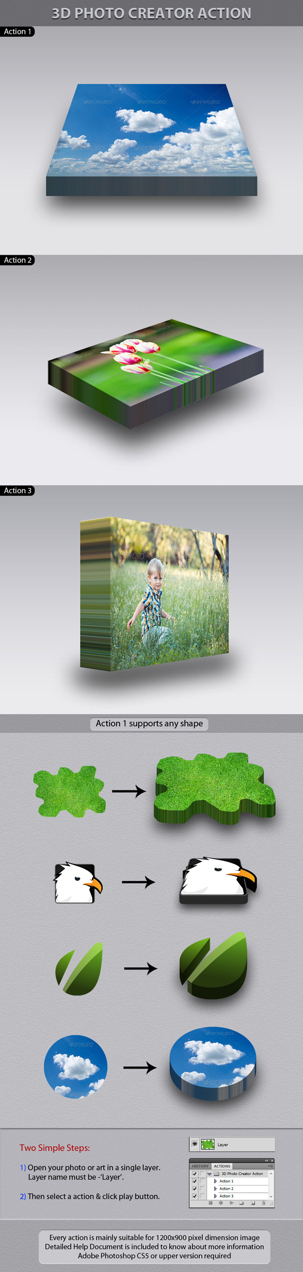 3D Photo Creator Action - Utilities Actions