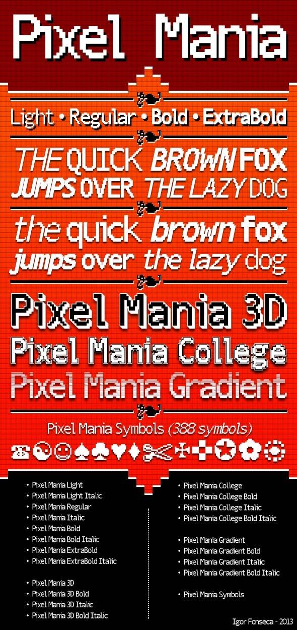 Pixel Mania - Bitmap & Pixel Decorative