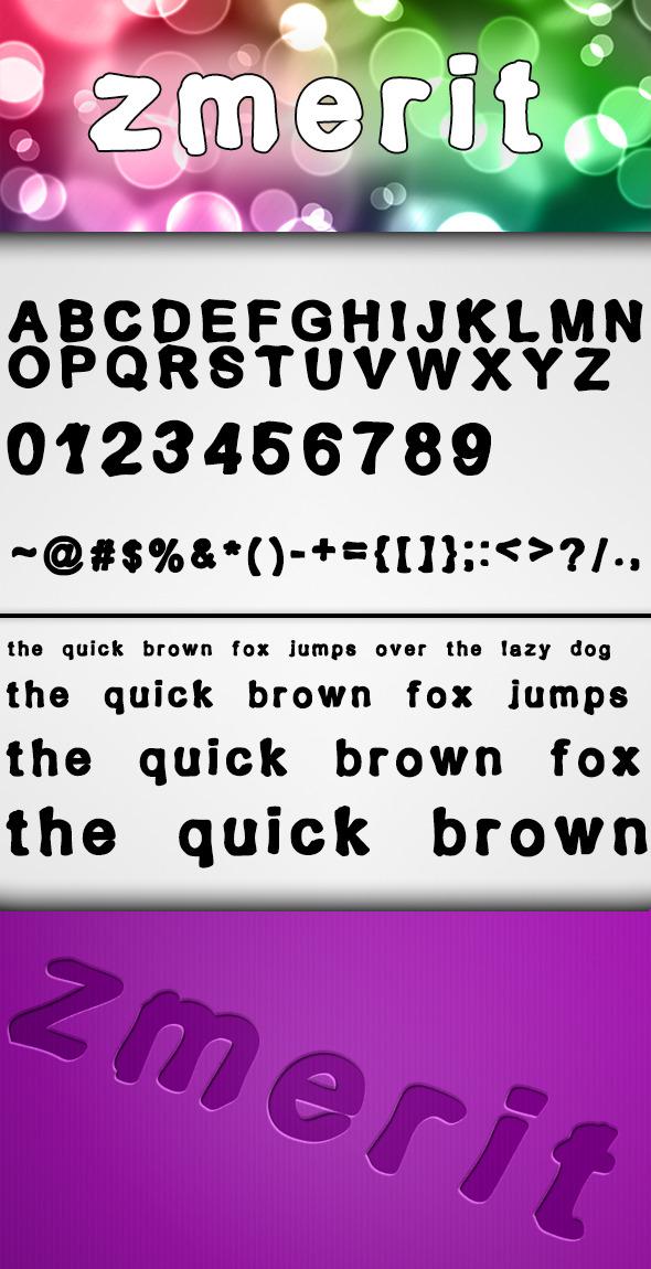 Zmerit Font - Fonts