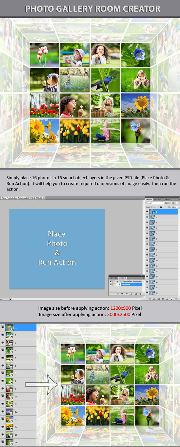 Photo Gallery Room Creator - Utilities Actions