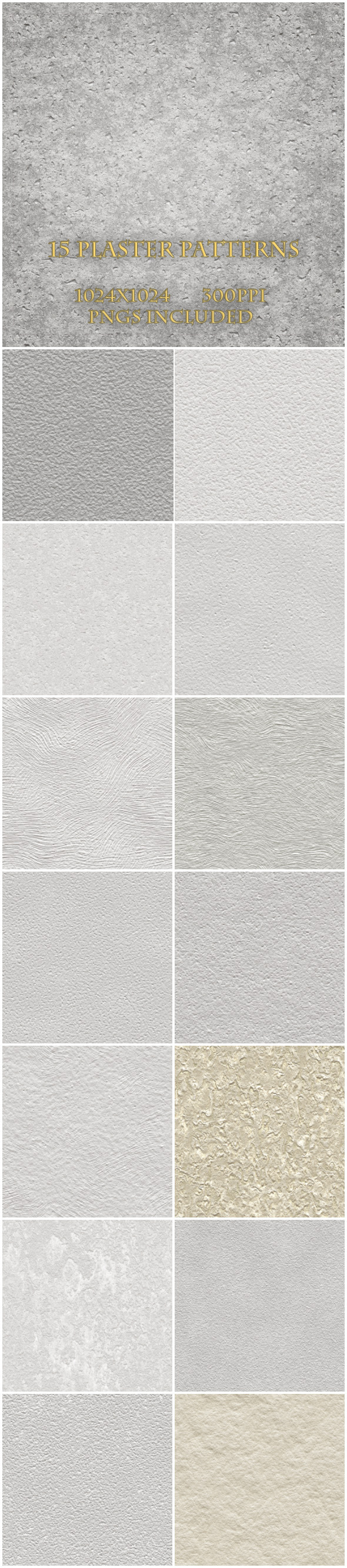 15 Plaster Textures - Urban Textures / Fills / Patterns