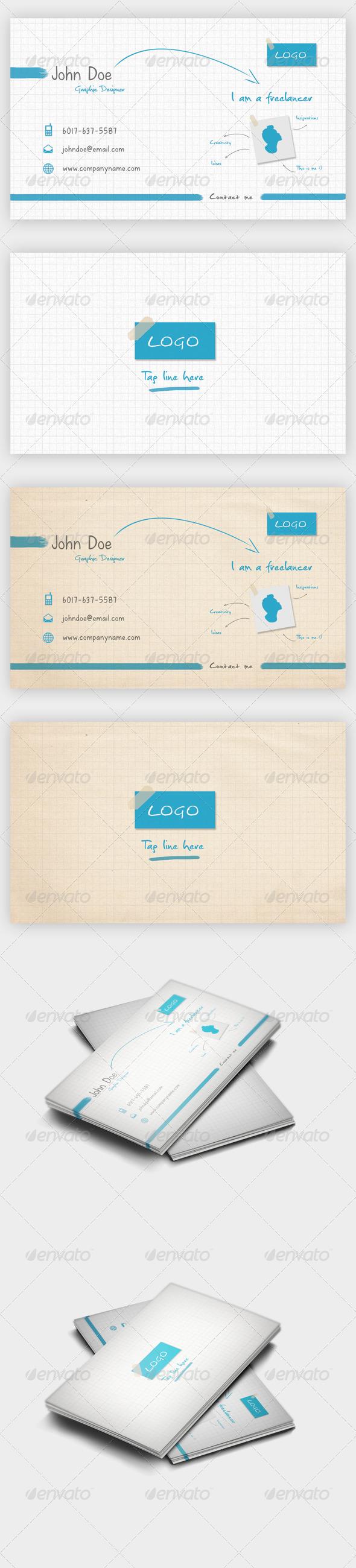 I'm Freelancer Business Card - Creative Business Cards