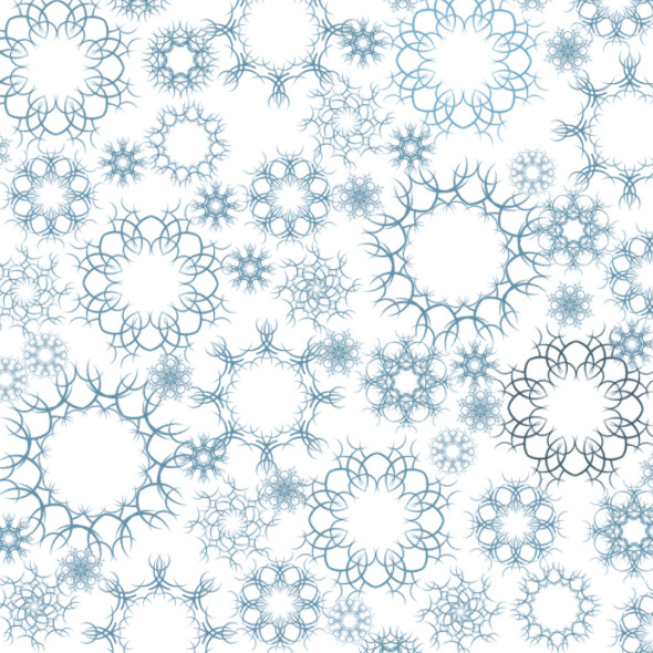 12 Snow Decorations Brushes - Brushes Photoshop