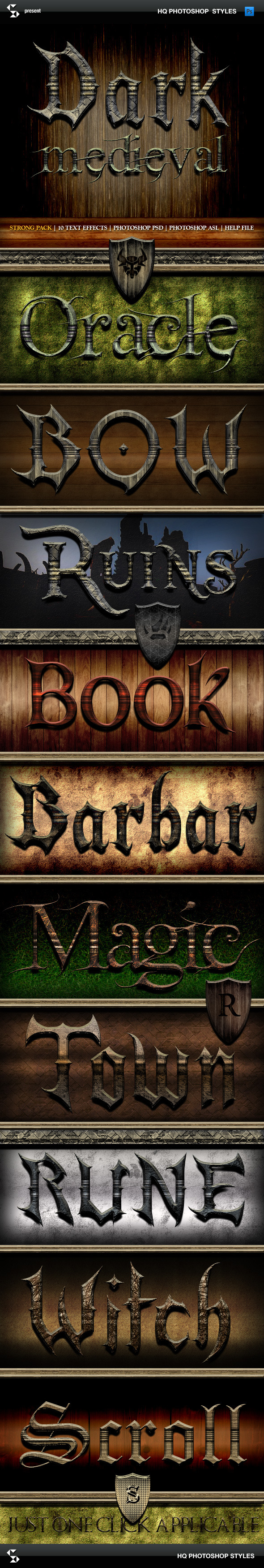 Fantasy Styles - Dark Medieval - Text Effects Styles