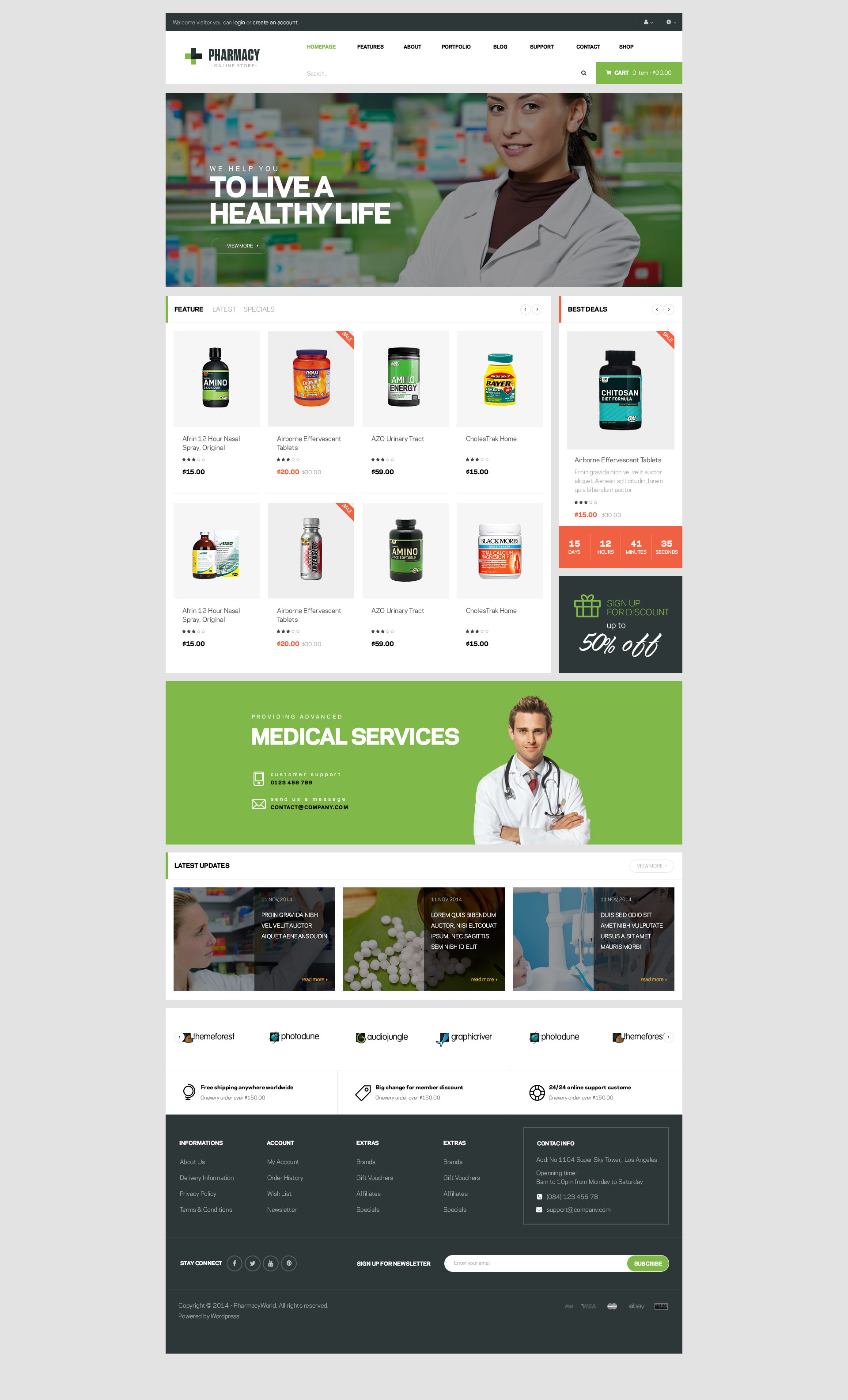 Pharmacy Woocommerce Wordpress Responsive Theme By Opalwp Themeforest