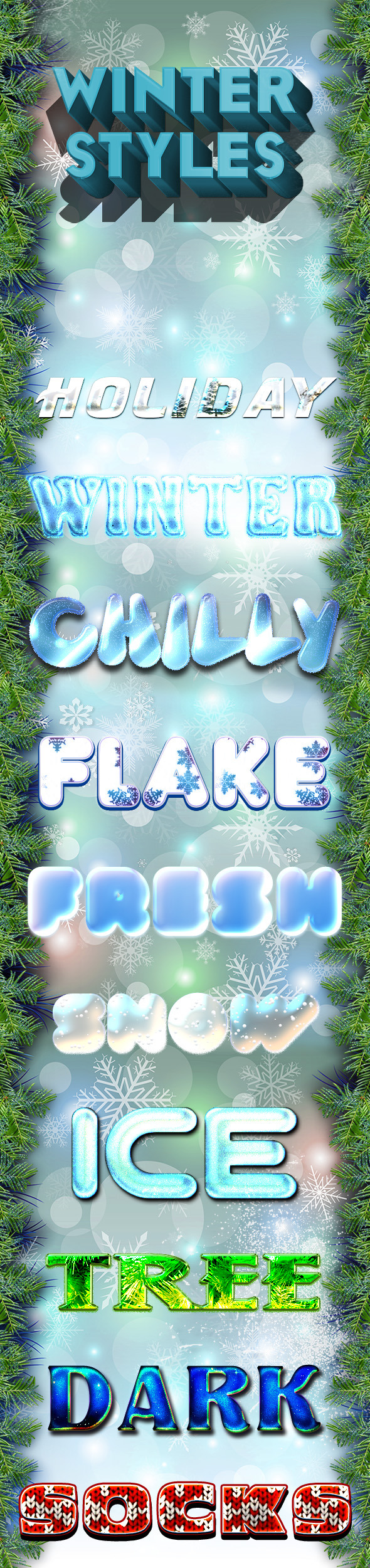 Winter Styles 2 - Text Effects Styles