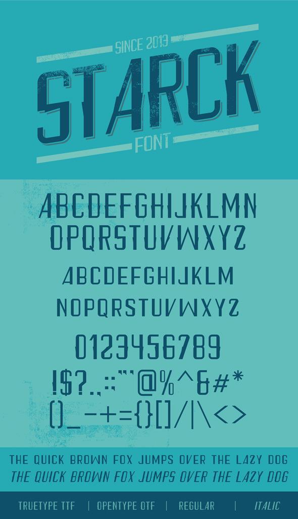 Starck Font - Sans-Serif Fonts