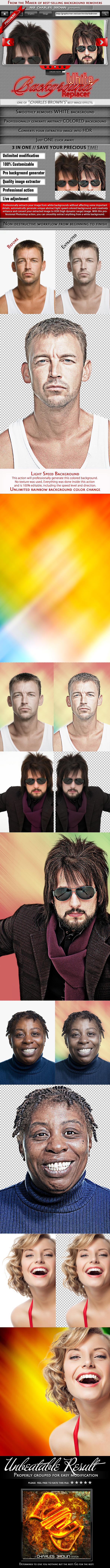 White Background Replacer - Photo Effects Actions