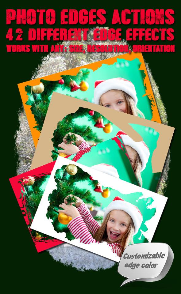 Photo Edges Actions for Photoshop Vol 4 - Actions Photoshop