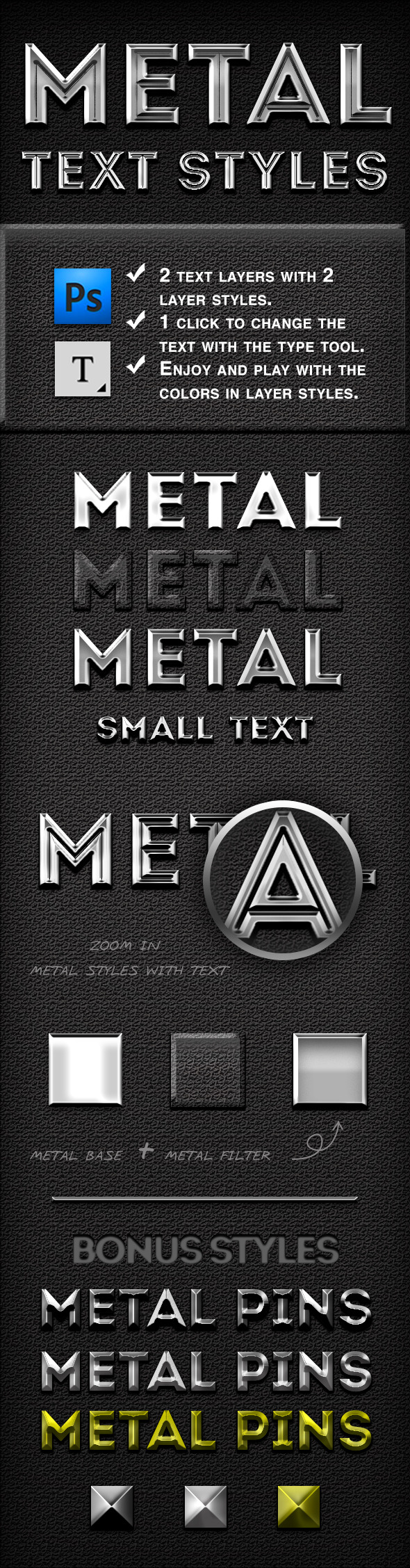 Metal Text Styles - Text Effects Styles