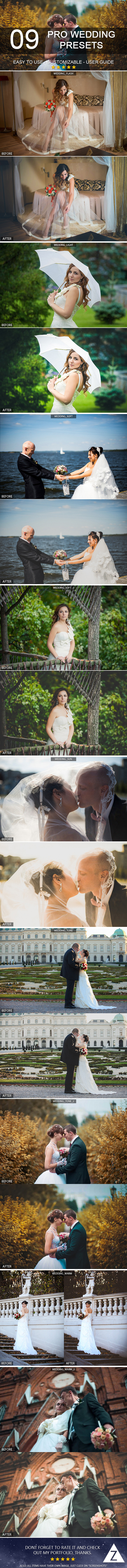 9 Pro Wedding Presets - Wedding Lightroom Presets