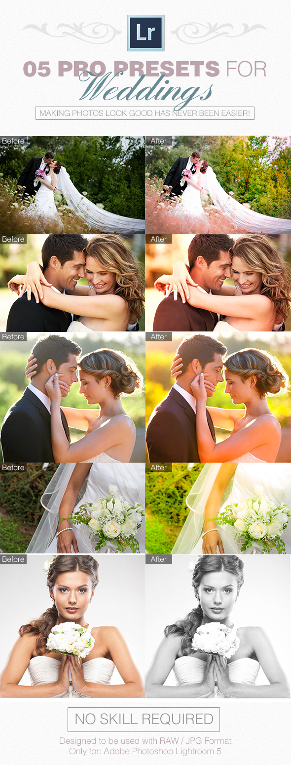 05 Pro Presets for Weddings - Wedding Lightroom Presets