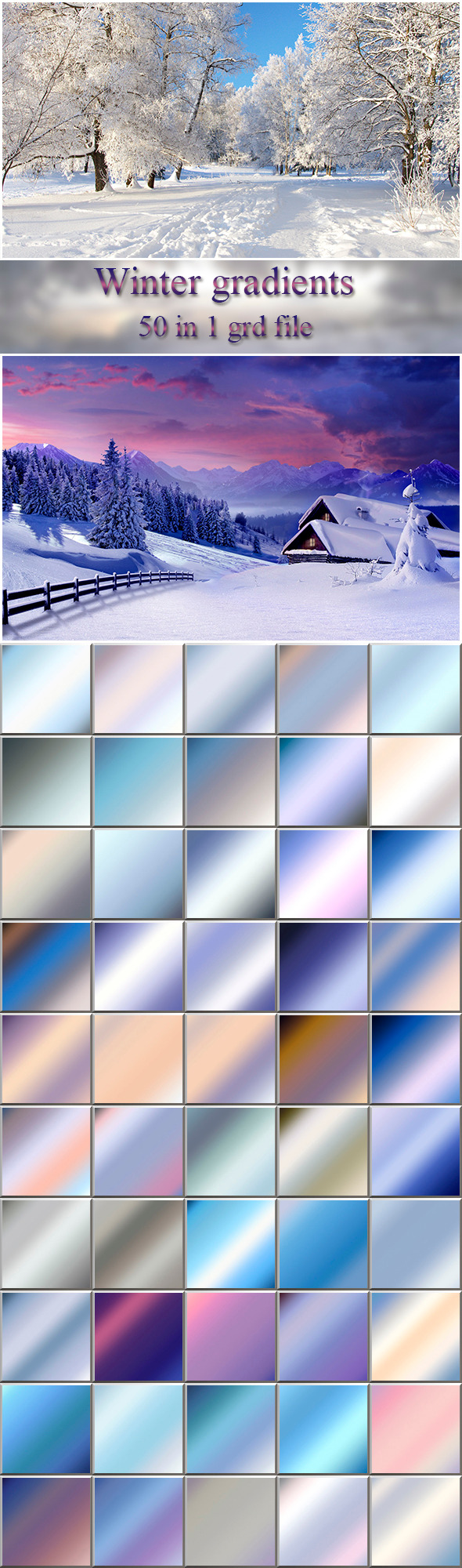 Winter Gradients - Photoshop Add-ons