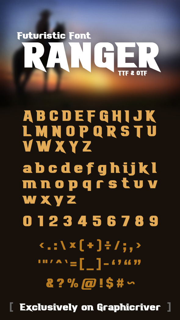 Ranger Font - Futuristic Decorative