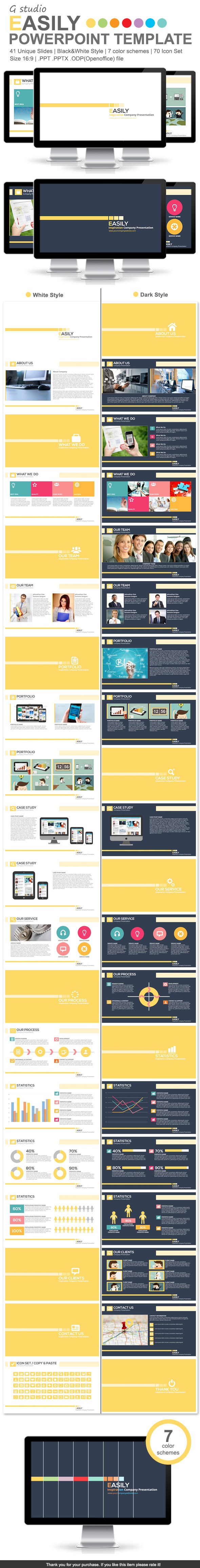 Gstudio Easily Powerpoint Template - Business PowerPoint Templates